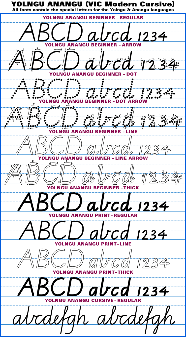 Australian School Fonts•Instant Download Aussie Handwriting Fonts