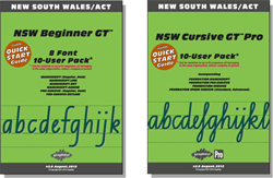 NSW Beginner Manual FREE with all Beginner Pack fonts, NSW Cursive Manual FREE with Cursive font
