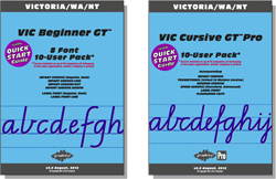 VIC Beginner Manual FREE with all Beginner Pack fonts, VIC Cursive Manual FREE with Cursive font