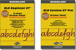 QLD Beginner Manual FREE with all Beginner Pack fonts, QLD Cursive Manual FREE with Cursive font