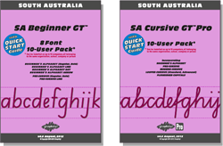 SA Beginner Manual FREE with all Beginner Pack fonts, SA Cursive Manual FREE with Cursive font