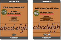 TAS Beginner Manual FREE with all Beginner Pack fonts, TAS Cursive Manual FREE with Cursive font