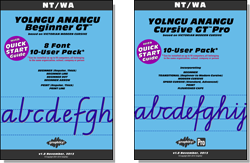 YOLNGU ANANGU Beginner Manual FREE with all Beginner Pack fonts. YOLNGU ANANGU Cursive Manual FREE with Cursive font.